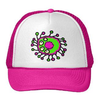 Green & Pink Cartoon Germ Hat