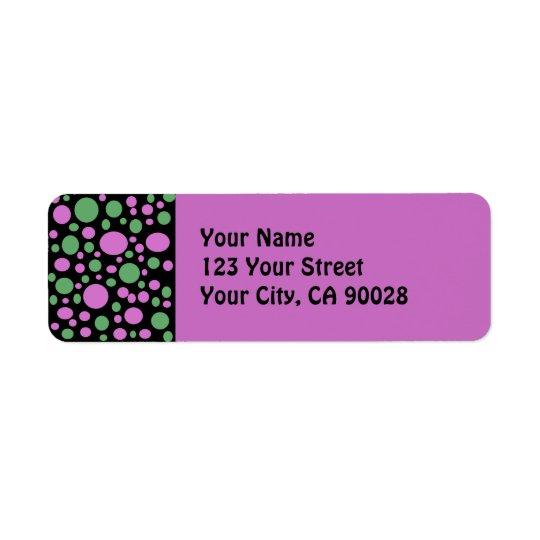 green pink dots