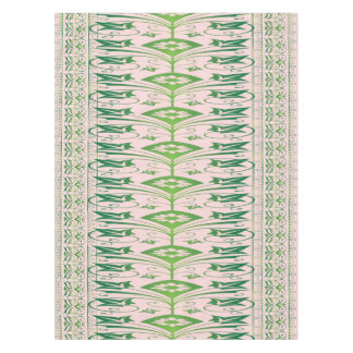Green Pink Floral Pattern Cotton Tablecloth