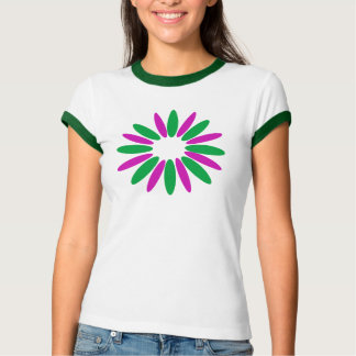 green pink flower shirts