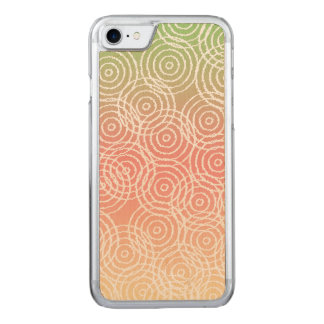 Green Pink Ikat Overlap Circles Geometric Pattern Carved iPhone 8/7 Case
