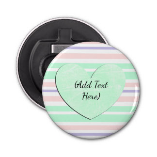 Green Pink Purple Personalized Bottle Opener