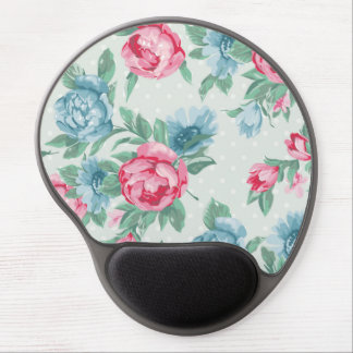 green,pink,roses,country,chic,shabby,vintage,girly gel mouse pad