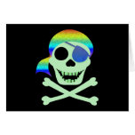 Green Pirate Skull Cards