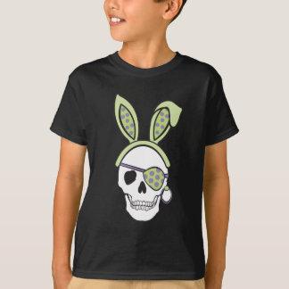 Green Pirate Skull Dark Tee