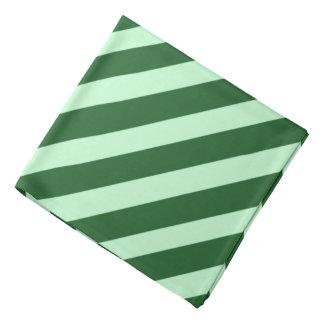 Green Pirate Stripes Bandana