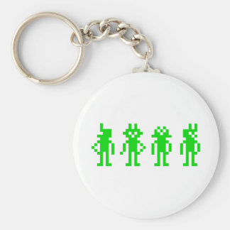 green pixel robots porte-clef