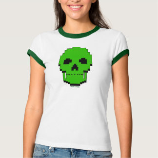 Green Pixel Skull (Women) #1 Shirt