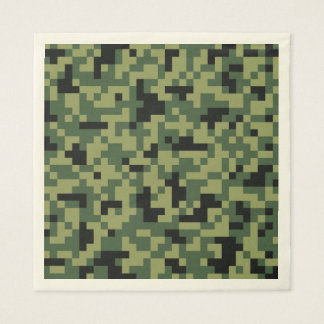 Green Pixels Camouflage. Camo your Paper Napkin