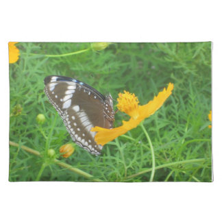 Green Placemat with Butterfly
