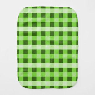 Green Plaid Burp Cloth