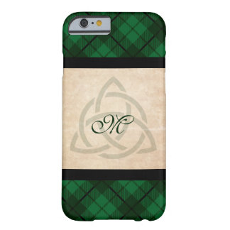 Green Plaid, Celtic Customized Barely There iPhone 6 Case