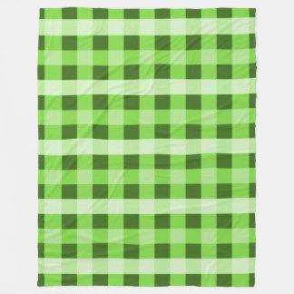 Green Plaid Fleece Blanket