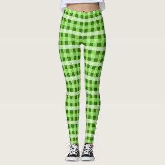 Green Plaid Leggings
