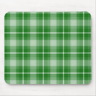 green plaid mouse pad