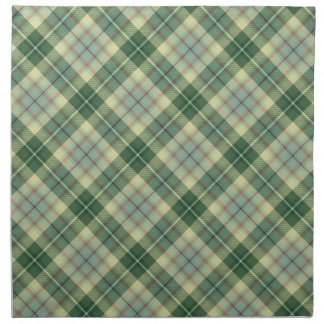 Green plaid napkin