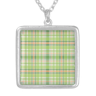 Green Plaid Custom Necklace