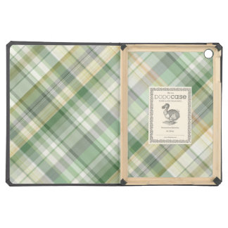 Green plaid pattern case for iPad air