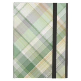 Green plaid pattern iPad air cases