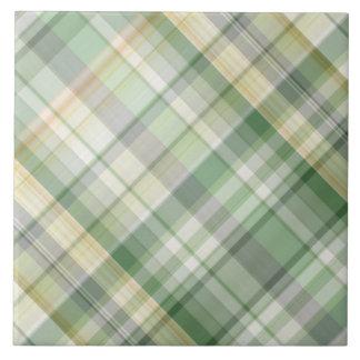 Green plaid pattern tile