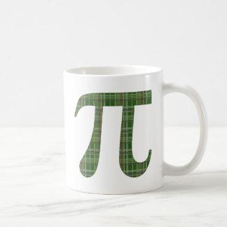Green Plaid Pi.png Basic White Mug