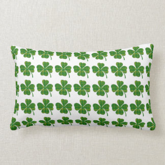 Green Plaid Shamrock Pillow St patrick's day