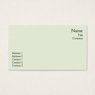Green Plain - Business Business Card