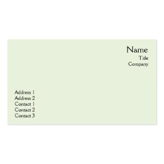 Green Plain - Business Pack Of Standard Business Cards