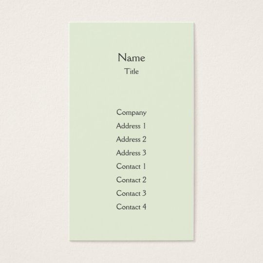Green Plain Vertical - Business Business Card