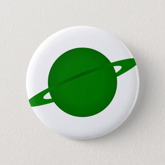 Green Planet 6 Cm Round Badge