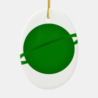 Green Planet Christmas Ornament