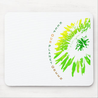 Green Planet Mouse Pad