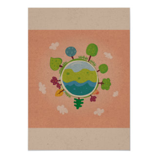 Green planet : original greeting / postcard