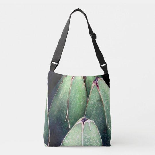 Green Plant Detail Custom Cross Body Bag