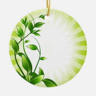 Green Plant Fash Christmas Ornaments