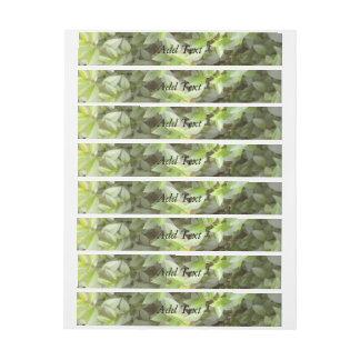 Green plant leaf wraparound address label