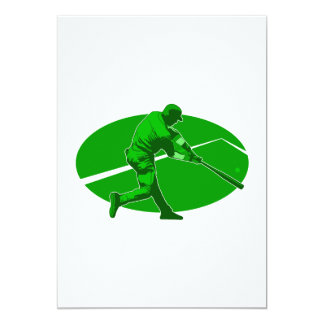 Green Player 13 Cm X 18 Cm Invitation Card