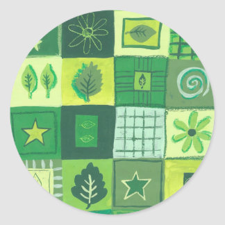 Green & Pleasant Classic Round Sticker