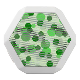Green Poker Dot Pattern White Boombot Rex Bluetooth Speaker