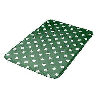 Green Polka Dot Bath Mats
