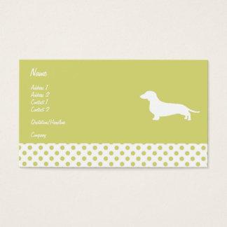 Green Polka Dot Dachshund Business card