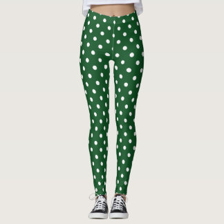 Green Polka Dot Leggings