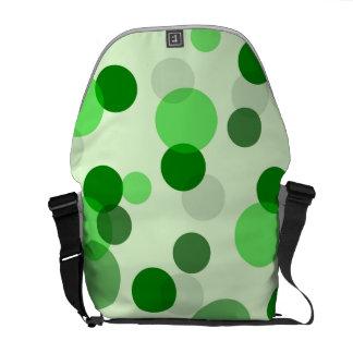 Green Polka Dot Pattern Commuter Bags