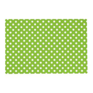 Green Polka Dot Pattern Laminated Place Mat