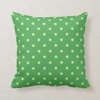 Green Polka Dot Pattern Throw Pillow Home Decor