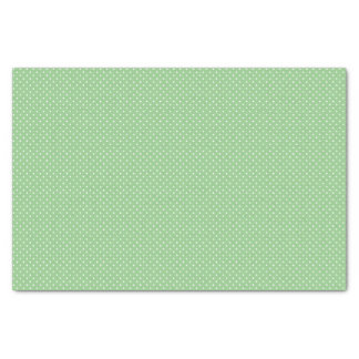Green Polka Dot Pattern Tissue Paper