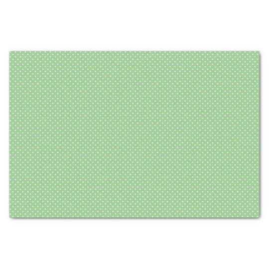Green Polka Dot Pattern Tissue Paper