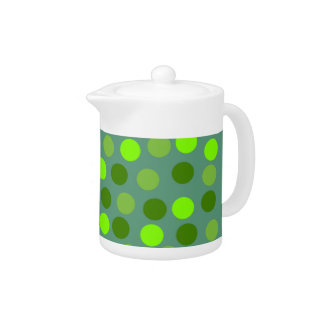 Green Polka Dot Small Teapot