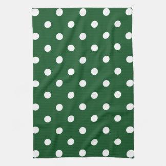 Green Polka Dot Tea Towel