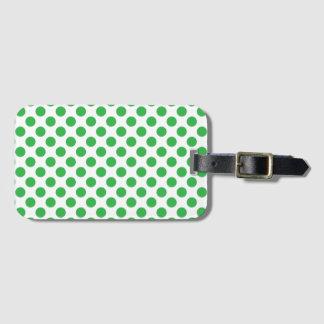 Green Polka Dots Bag Tag